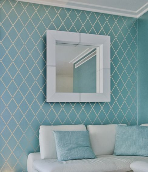 Stenciled wall ideas Painting geometric patterns on walls