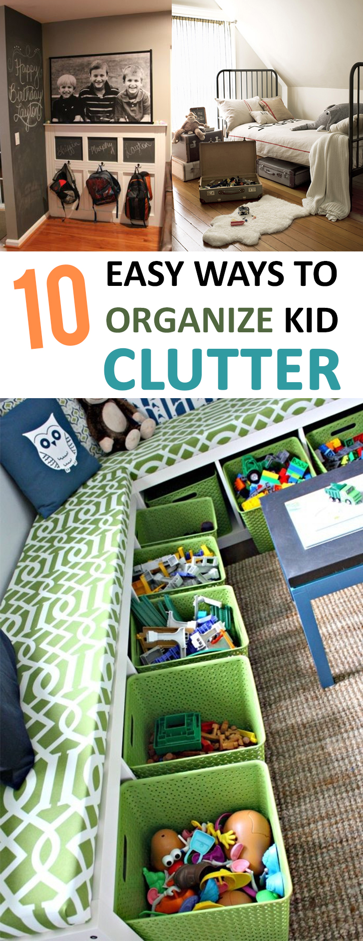 10 Easy Ways to Organize Kid Clutter