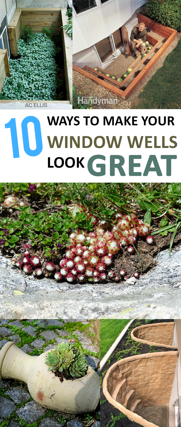 Window well, window well projects, home improvement, DIY home improvement, popular pin, easy home improvement, curb appeal projects, DIY curb appeal projects.tutorials, window well ideas
