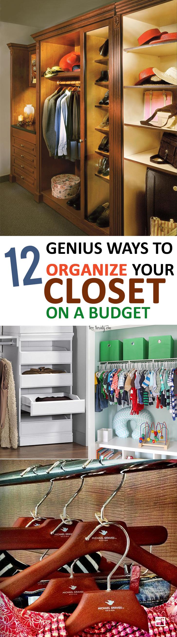 Closet organization, organizing small closets, DIY closet organization, popular pin, DIY closet storage, easy closet storage, storage ideas.