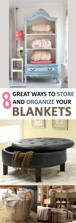8 Great Ways to Store and Organize Your Blankets