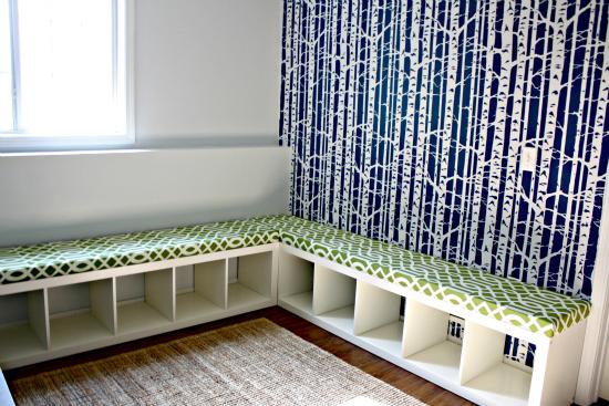 Genius Idea Ikea Expedit Shelves With Baskets For Storage: Creative Window Seat Ideas