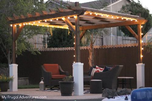 inexpensive patio pergola index of wp contentuploads201312 - Inexpensive Patio Pergola - Updated Patio After Picture1 Amazing