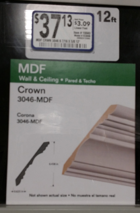 Crown Molding Price Tag
