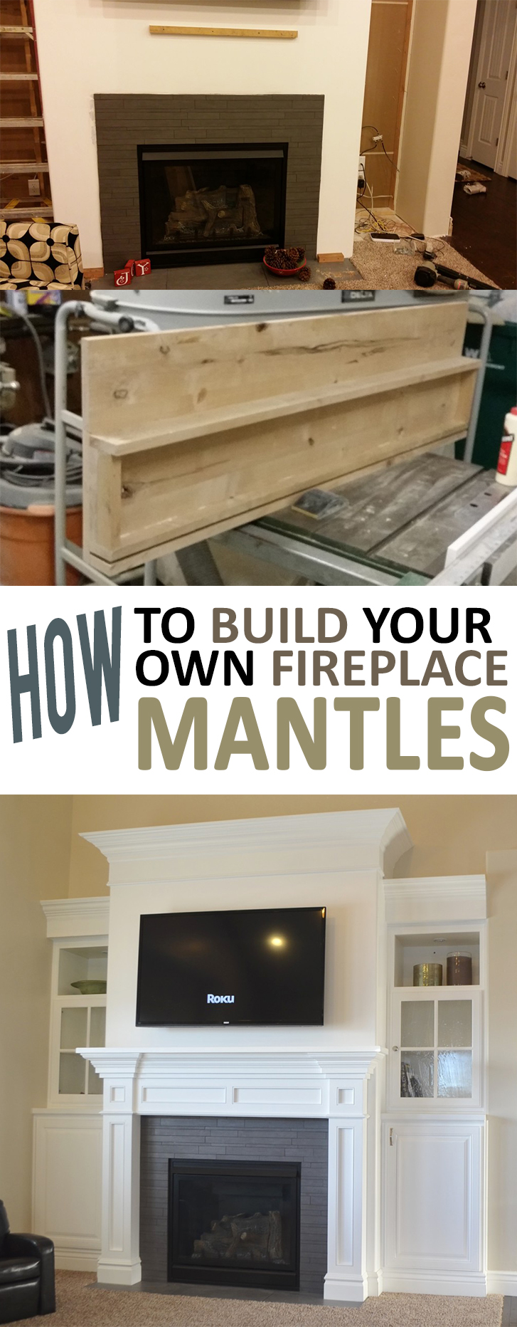 How to Build Your Own Fireplace Mantle - How To Build Your Own Fireplace Mantel -