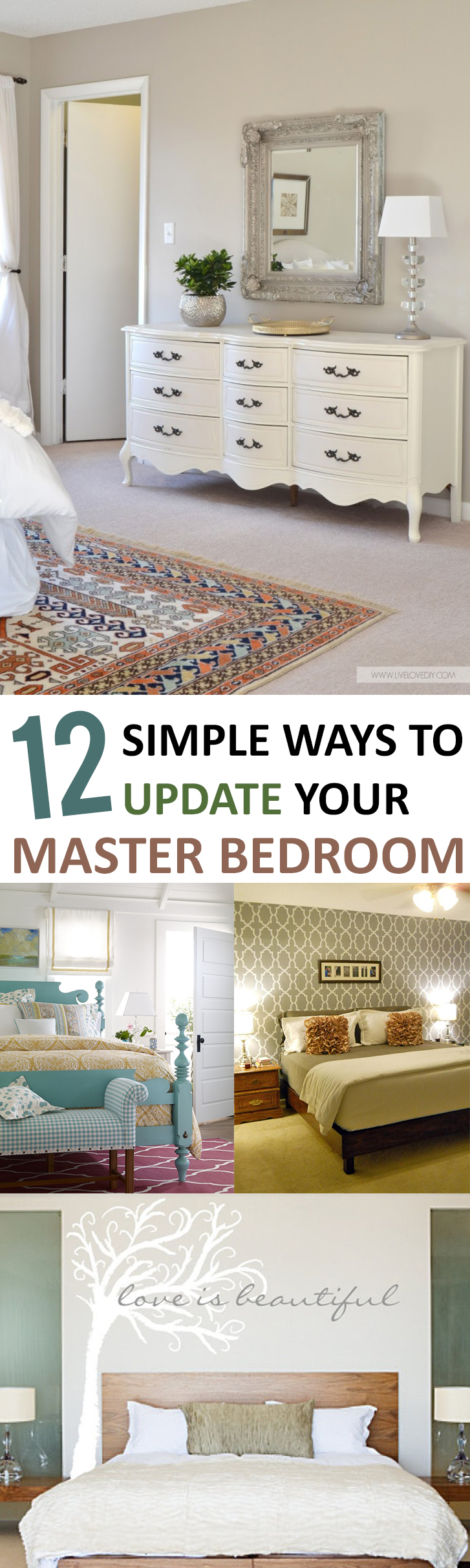 12 Simple Ways to Update Your Master Bedroom