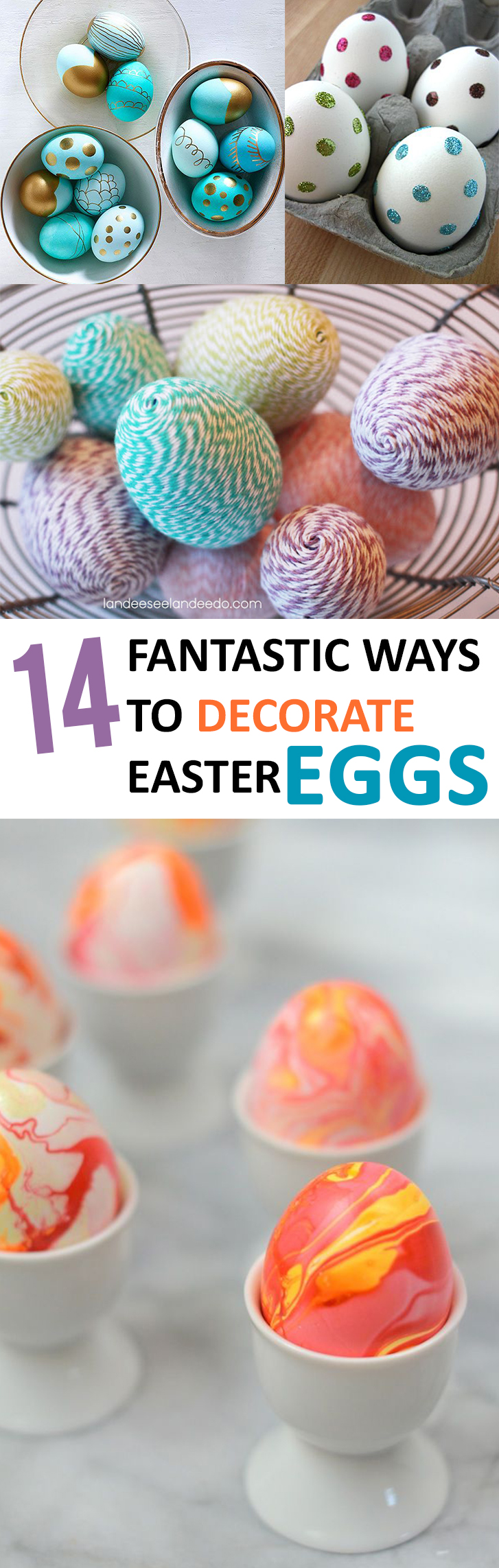 14 Fantastic Ways to Decorate Easter Eggs
