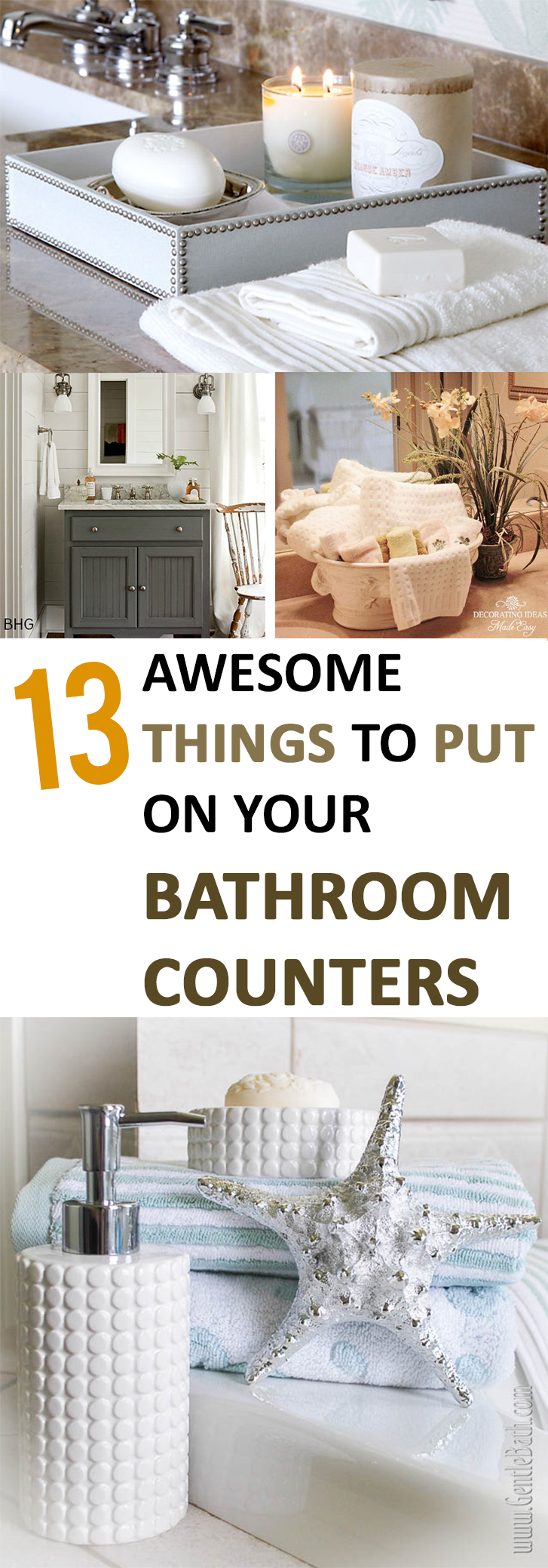 13 awesome things to put on your bathroom counters - Bathroom Counter Decorating Ideas