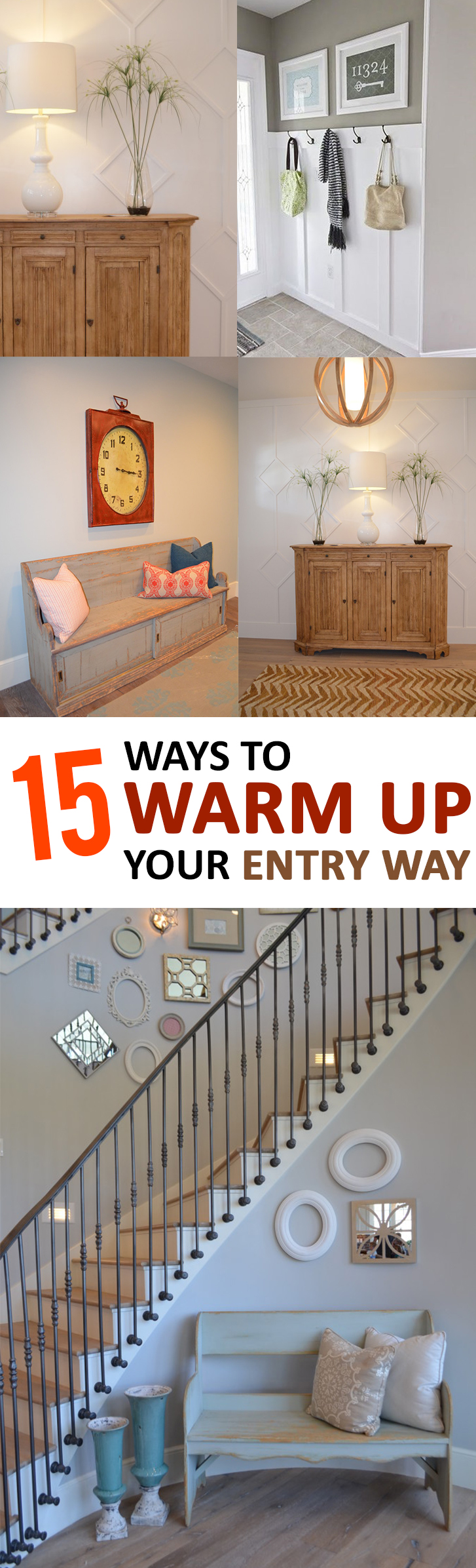 15 Ways to Warm up Your Entry Way