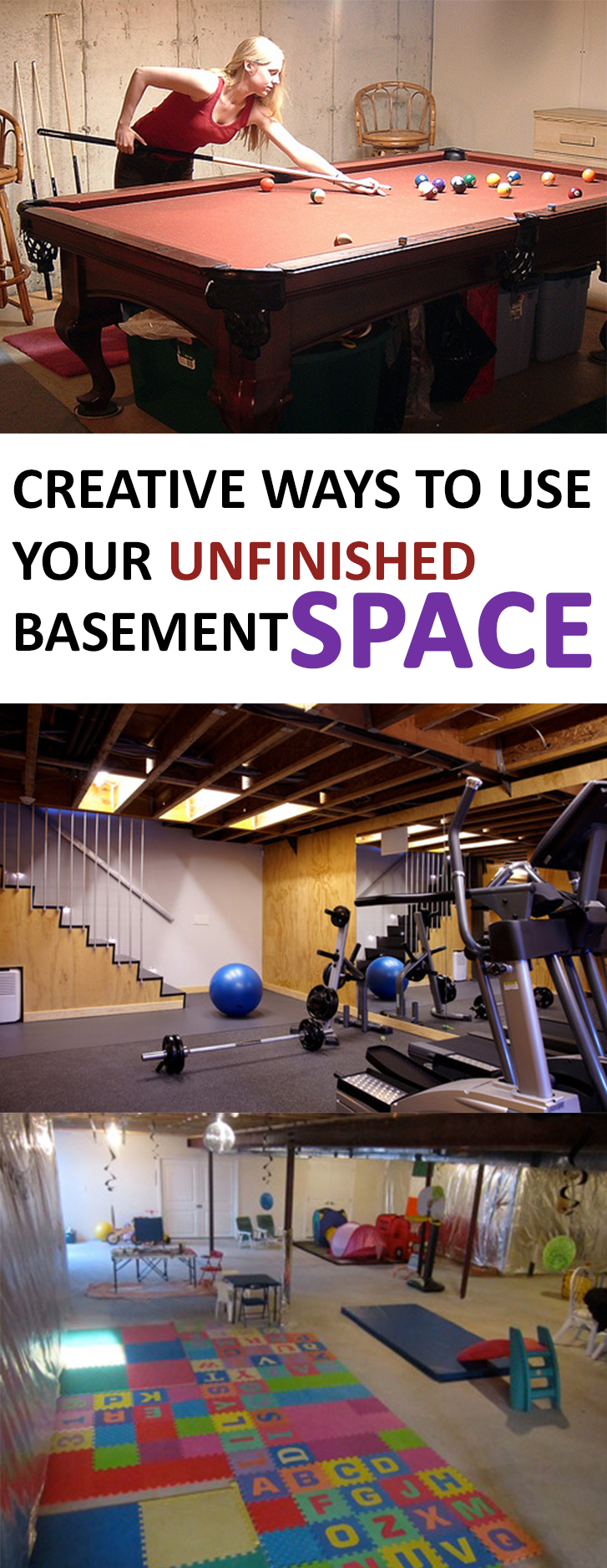 creative ways to use your unfinished basement space