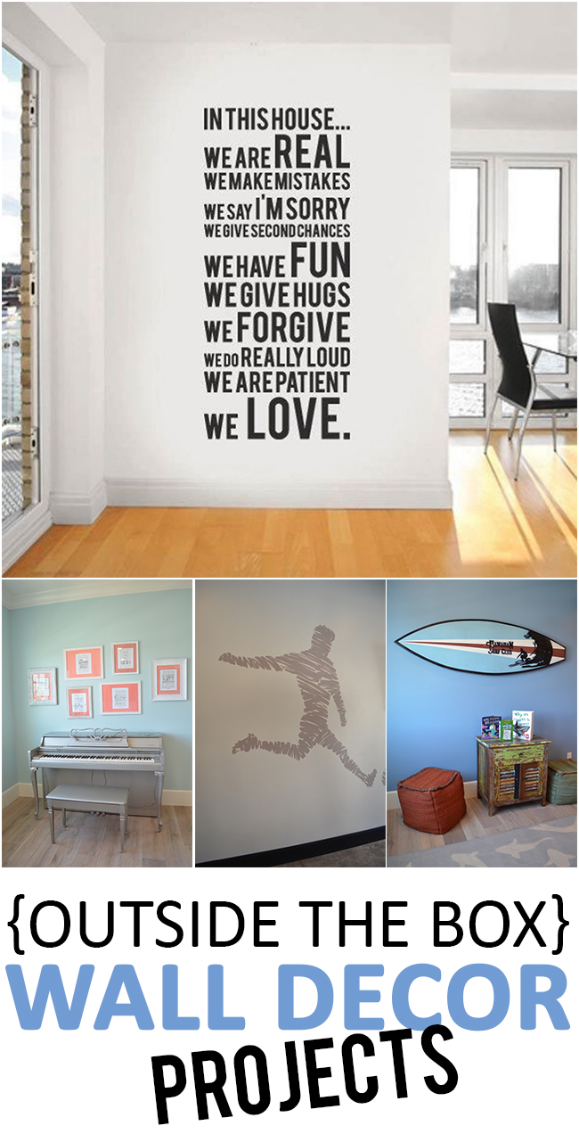 {Outside the Box} Wall Decor Projects