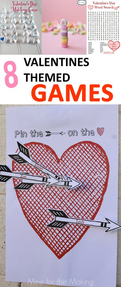 8 Valentines Themed Games