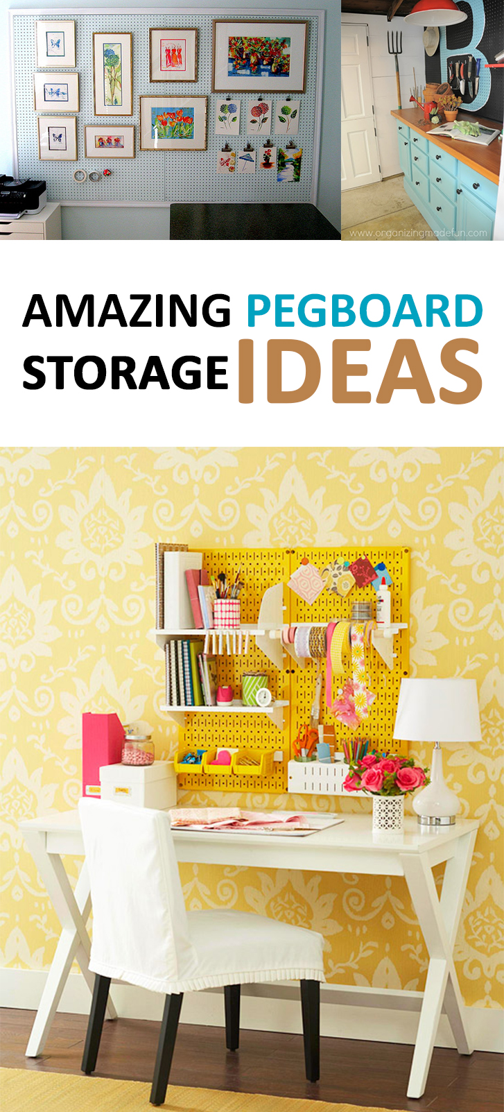 Amazing Pegboard Storage Ideas & Amazing Pegboard Storage ideas -