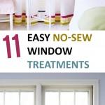 DIY Window Treatments, DIY Window, Window Treatments, Popular Pin, Home Decor, DIY Home Decor, No-Sew Projects, No-Sew Window Treatments.