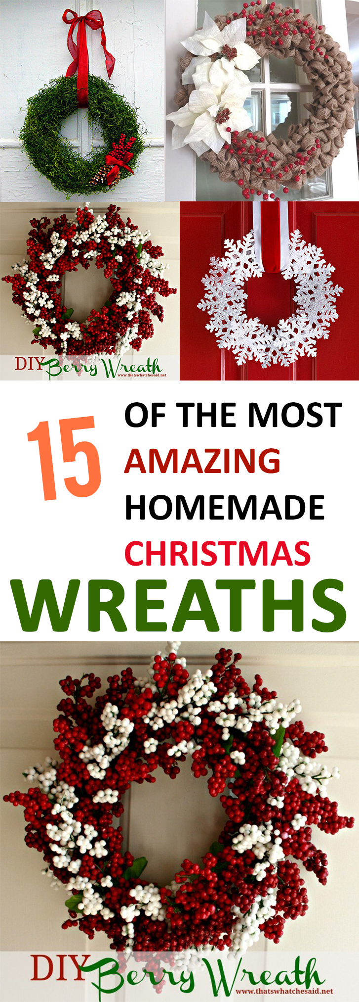 15 amazing homemade christmas wreath ideas for Amazing wreaths
