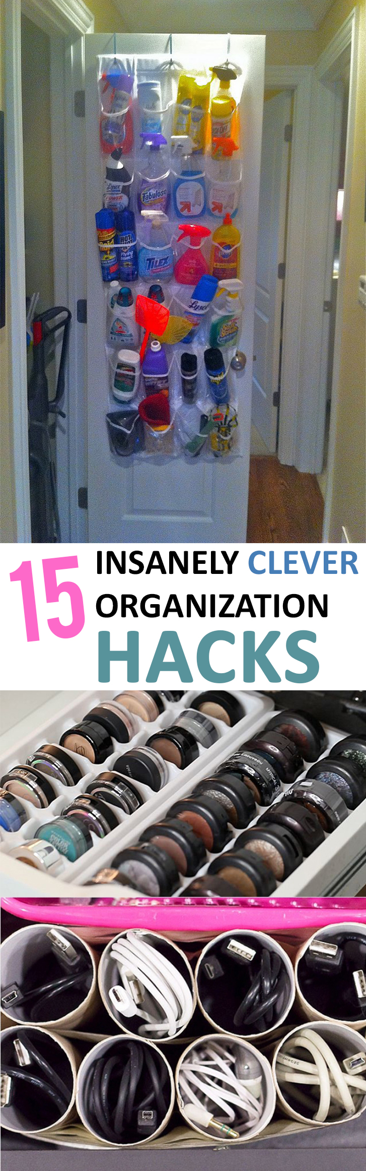 15 Insanely Clever Organization Hacks