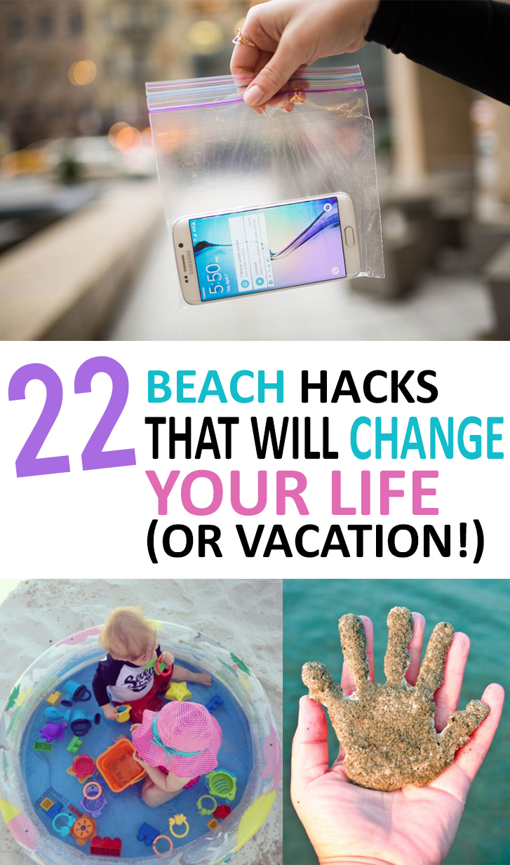 summer, summer projects, beach hacks, beach tips, things to pack at the beach, summer diy, summer activities, pool hacks, camping tricks