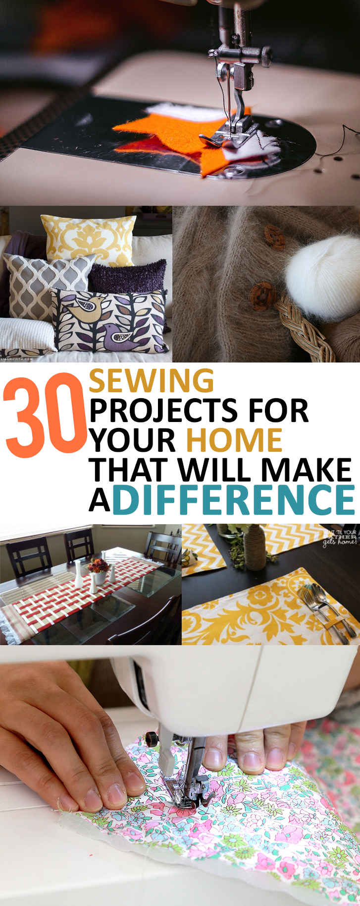 30 Sewing Projects For Your Home That Will Make A