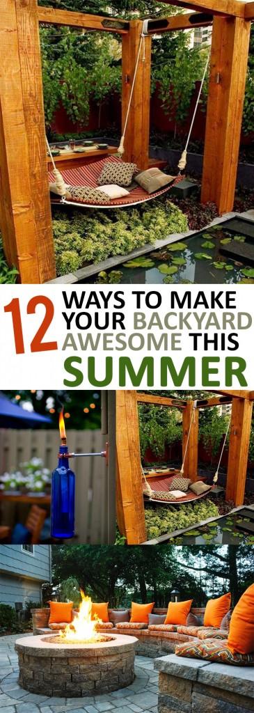 Backyard hacks, summer hacks, party hacks, party planning tips, popular pin, summer tips, outdoor living, outdoor party ideas.
