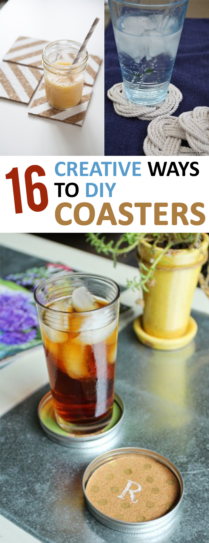 16 creative ways to diy coasters for Creative coasters