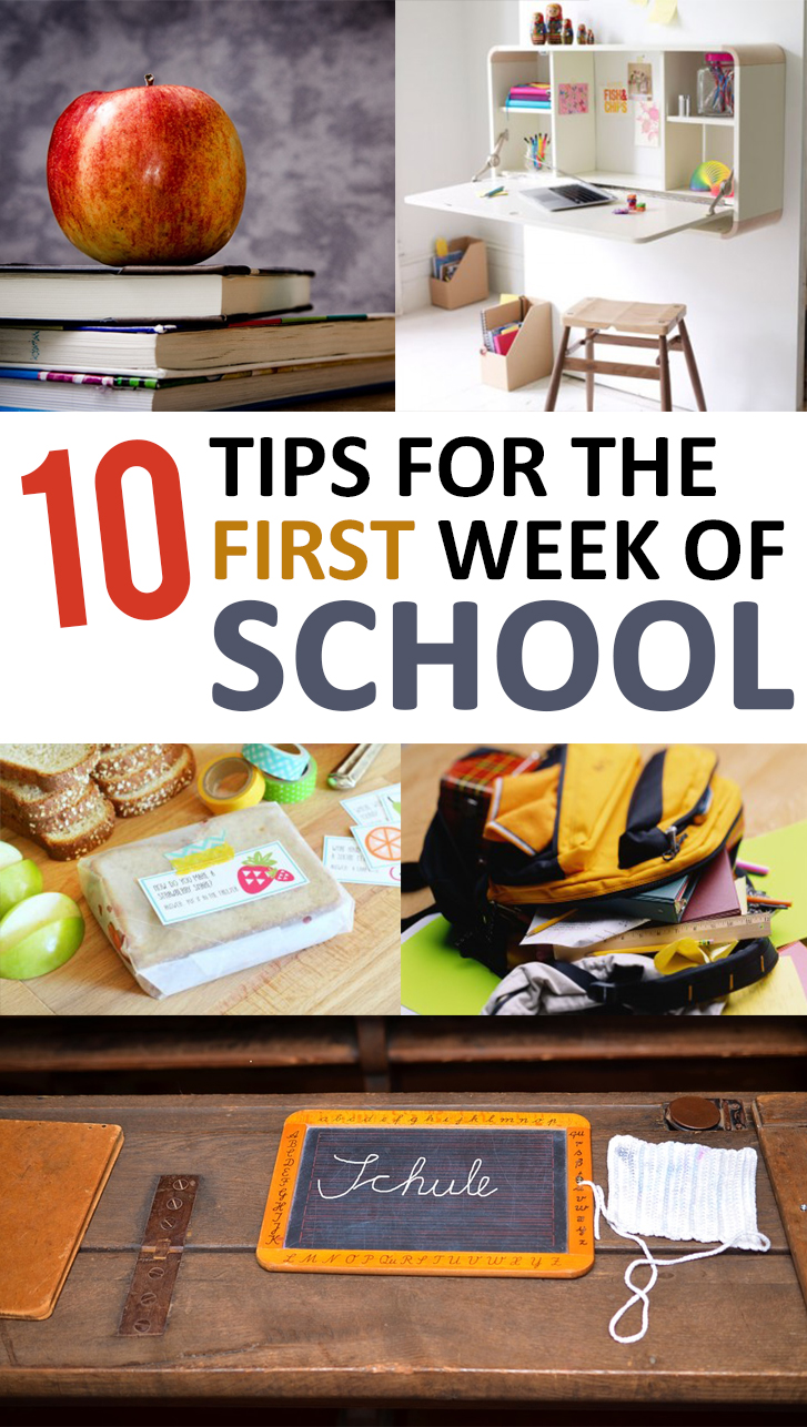 10 Tips for the First Week of School