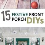 Front porch decor, DIY porch decor, popular pin, porch, Christmas, Christmas hacks, DIY holiday, holiday crafts, crafting,