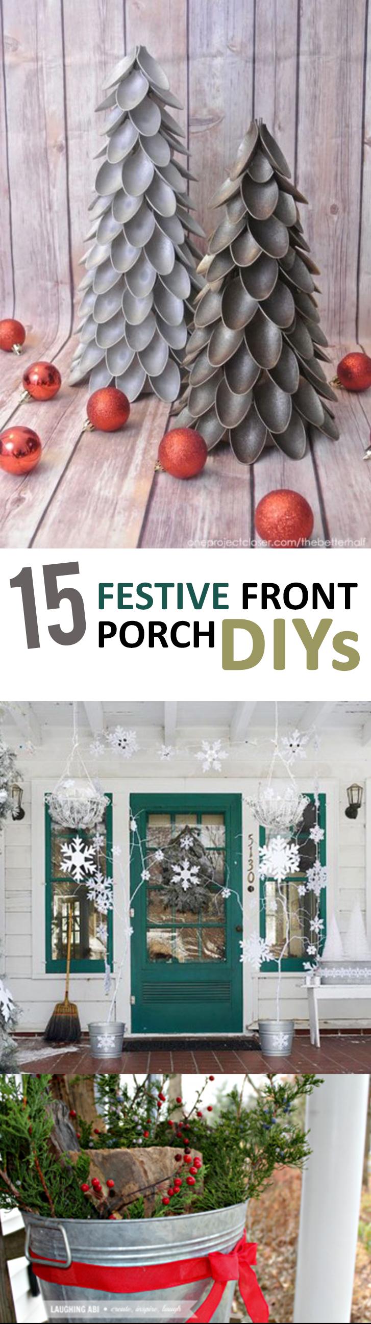 Front porch decor, DIY porch decor, popular pin, porch, Christmas, Christmas hacks, DIY holiday, holiday crafts, crafting,