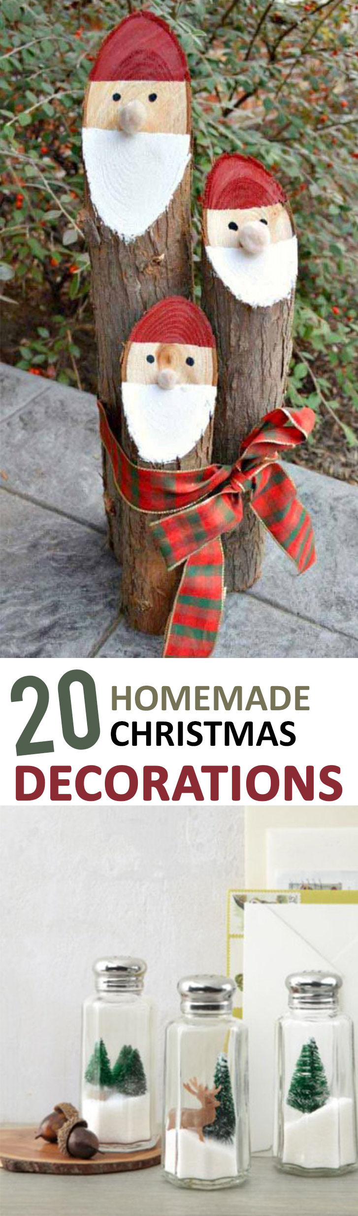 20 homemade christmas decorations for Diy christmas decorations for your home