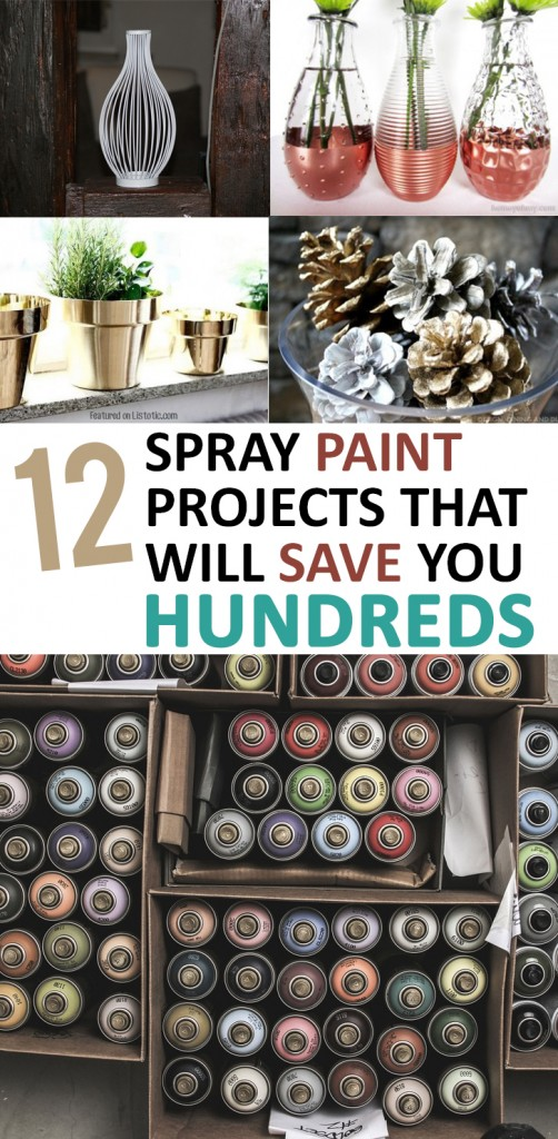 Spray paint projects, DIY projects, DIY home decor, popular pin, spray paint hacks, frugal DIY projects, DIY tutorials.