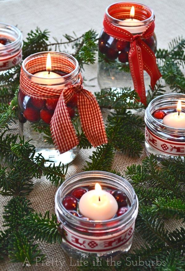 Christmas, Christmas Mason Jar, Popular Pin, DIY Holiday Decor, Mason Jar Projects, Mason Jar Hacks, Christmas Luminaries, DIY Christmas Luminaries.