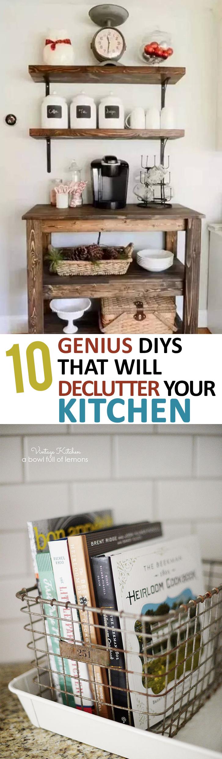 Declutter Your Kitchen, Kitchen Organization, Kitchen Organization Hacks, Popular Pin, Kitchen DIY, DIY Kitchen Projects, Kitchen Hacks, Kitchen Design Tips, Rustic Kitchen