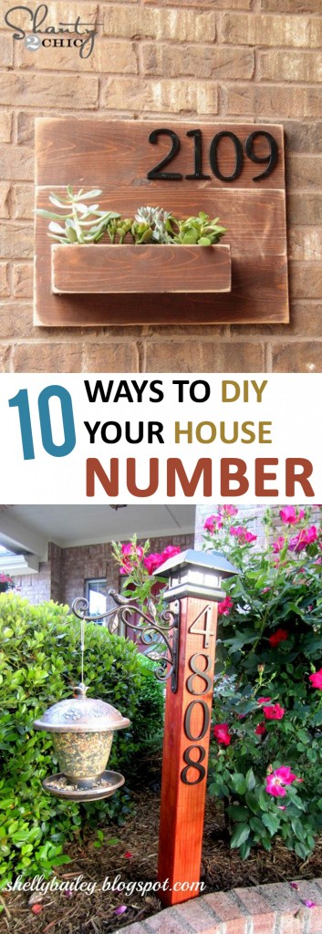 DIY home decor, home decor, outdoor projects, outdoor DIY project, popular pin, house number projects, DIY house number