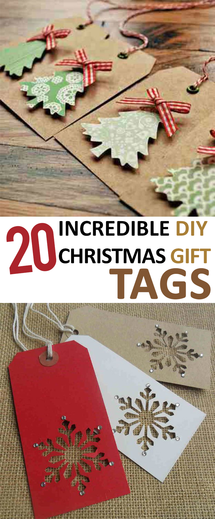 20 Incredible DIY Christmas Gift Tags -