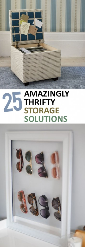 25 Amazingly Thrifty Storage Solutions