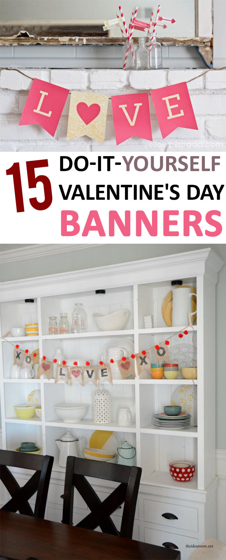 15 do it yourself valentines day banners valentines day homemade valentines day decorations valentines day diy holiday decor ideas solutioingenieria Gallery