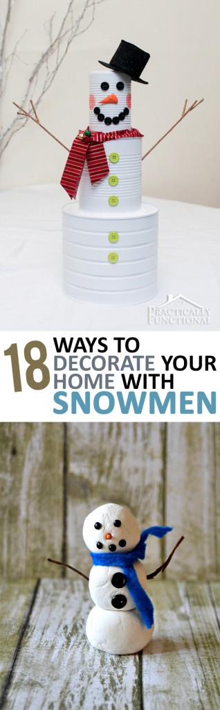 Decorate Your House With Snowmen, How to Decorate For Winter, Winter Decorations, Snowmen DIY Decorations, DIY Winter Decorations for the Home, Popular Pin