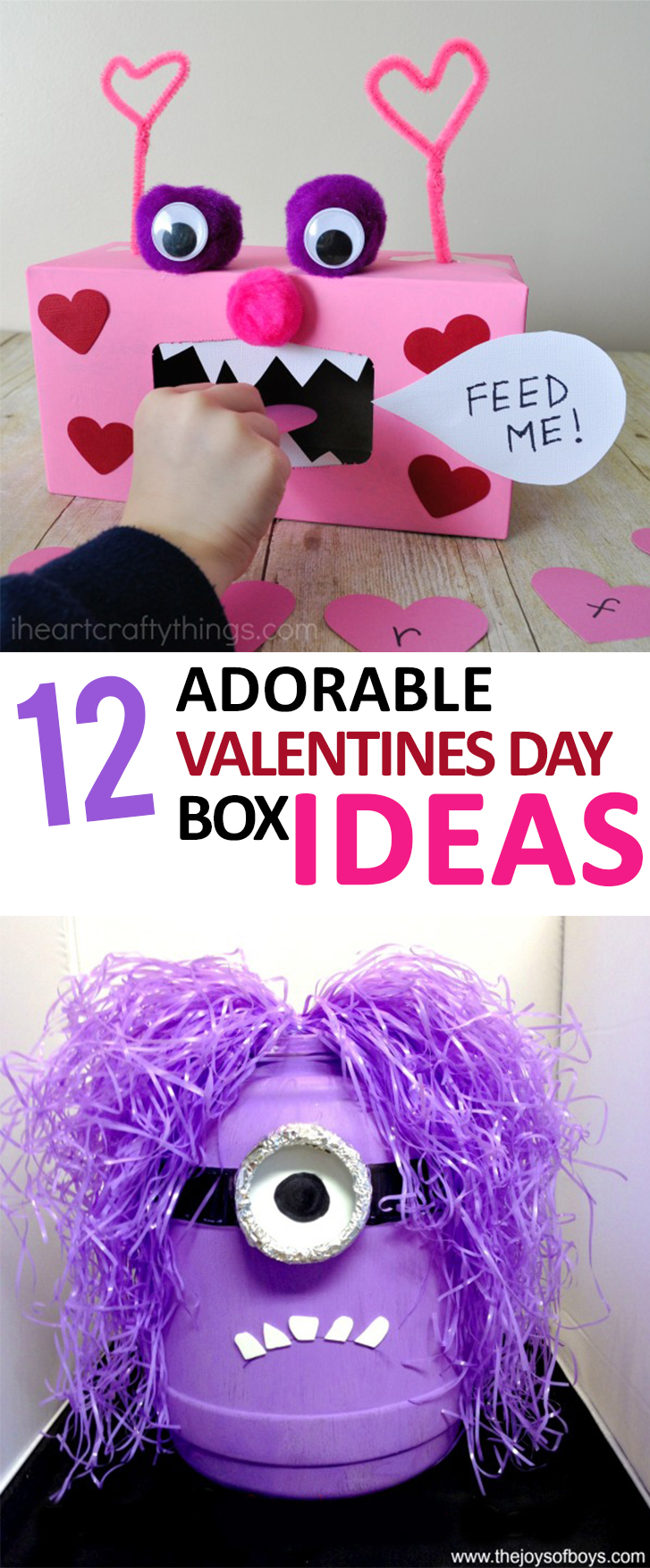 Valentines Day Box Ideas, Valentines Day Boxes, Easy Valentines Day Boxes, Valentines  Day