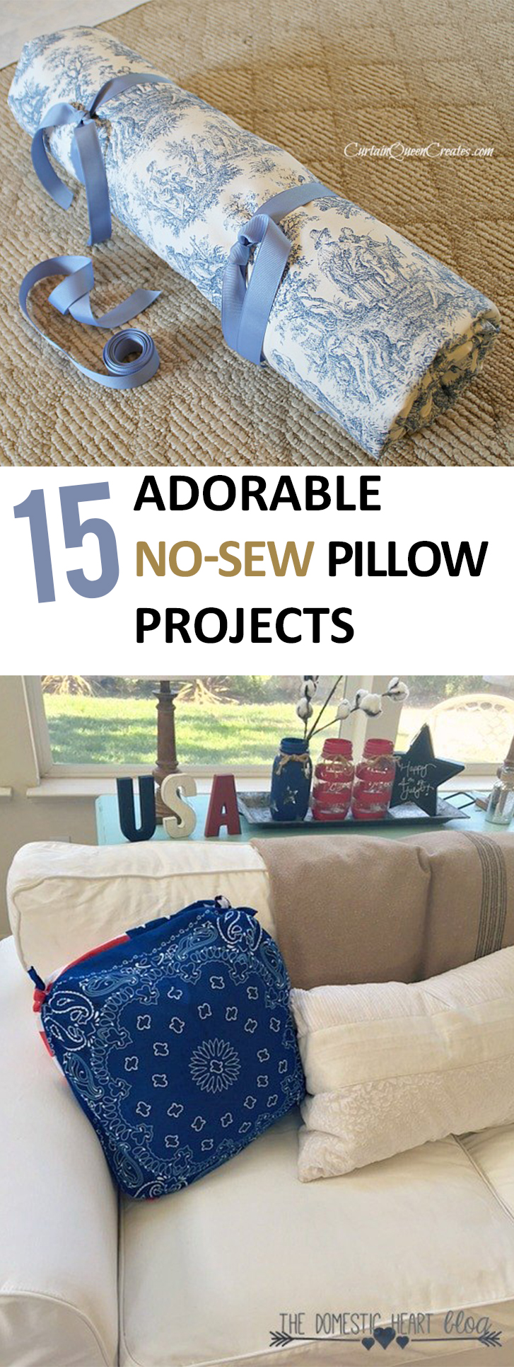 No Sew Pillow, No Sew Pillow Projects, Project Ideas, Easy Craft Ideas, Easy No Sew Projects, Sewing Projects for Beginners, Quick Sewing Projects, Homemade Projects, Simple Sewing Projects, Popular Pin