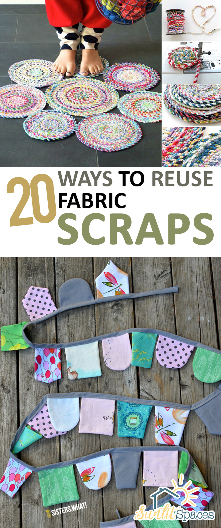 20 ways to reuse fabric scraps for Quick and easy sewing projects to sell