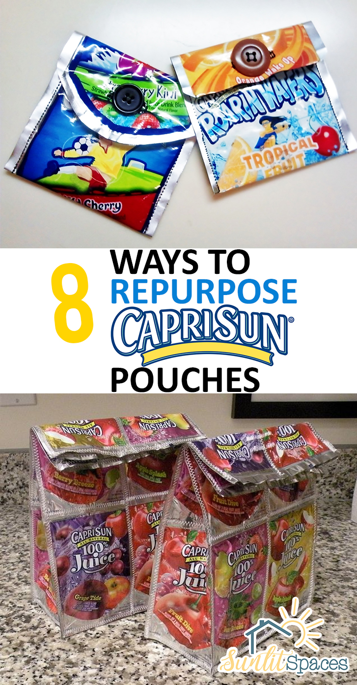 How to Reuse Capri Sun Pouches, Things to Do With Capri Sun Pouches, Easy Crafts, Crafts for Kids, Easy Crafts for Kids, Quick Crafts for Kids, Crafts, Repurpose Crafts, Popular Pin