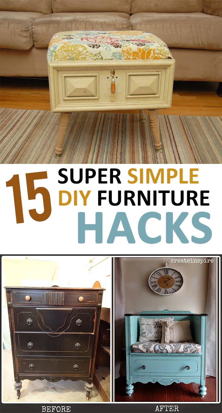 15 super simple diy furniture hacks page 17 of 17 for Diy minimalist furniture