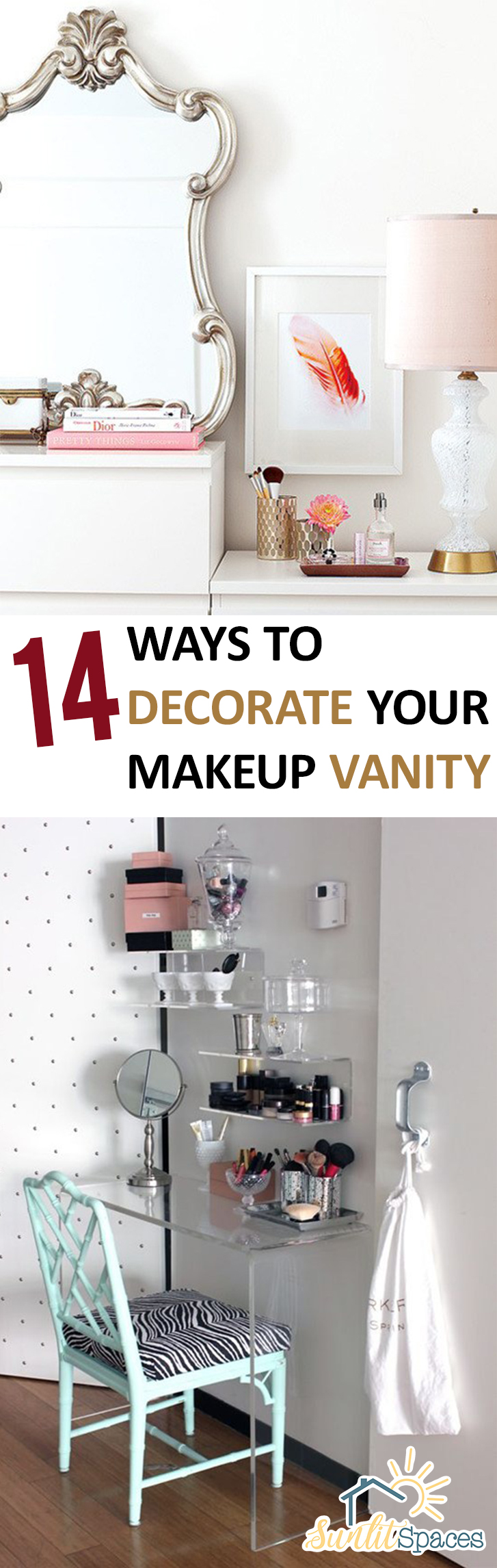 14 Ways To Decorate Your Makeup Vanity