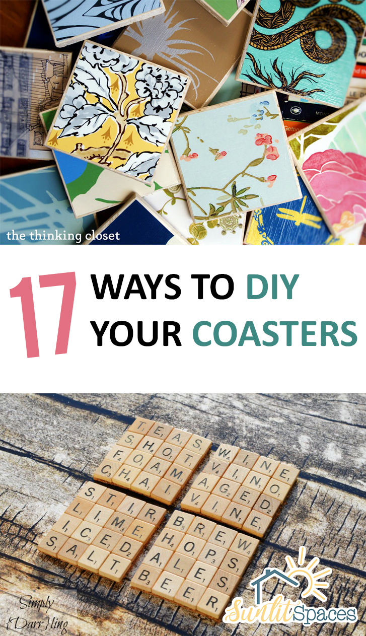 17 Ways to DIY Your Coasters