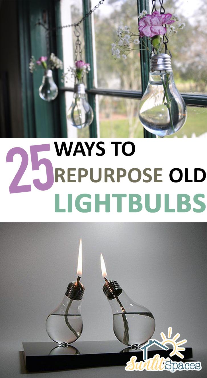25 Ways to Repurpose Old Lightbulbs