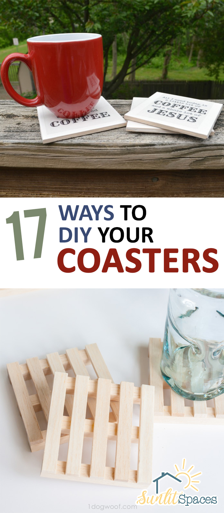 PIN 17 Ways to DIY Your Coasters