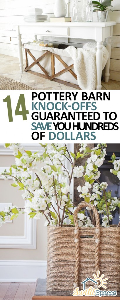 14 Pottery Barn Knock-Offs Guaranteed to Save You Hundreds of Dollars. Pottery Barn, Pottery Barn Knock Off Projects, Knock Off Pottery Barn, Pottery Barn Decor, Pottery Barn Decor Tips, DIY Home, DIY Home Decor, Home Decor Tips and Tricks, Pottery Barn