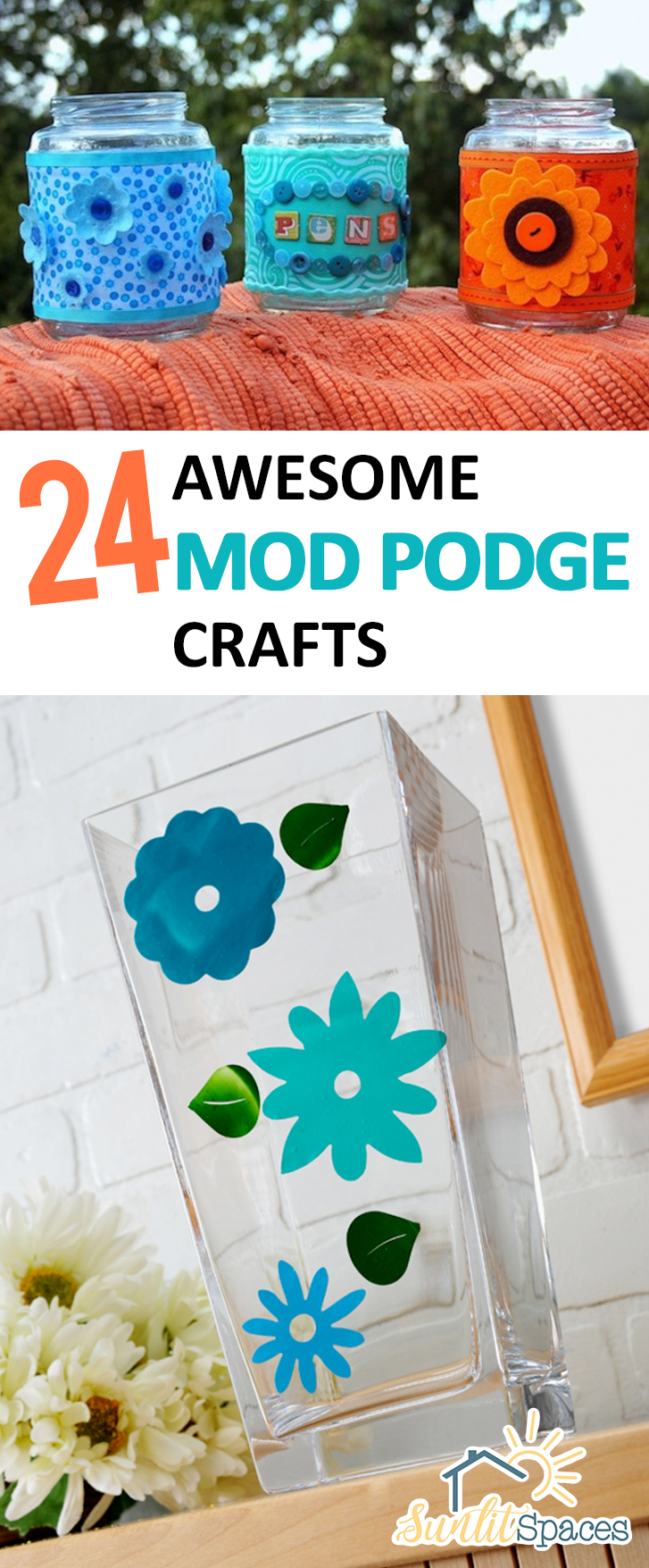 24 awesome mod podge crafts