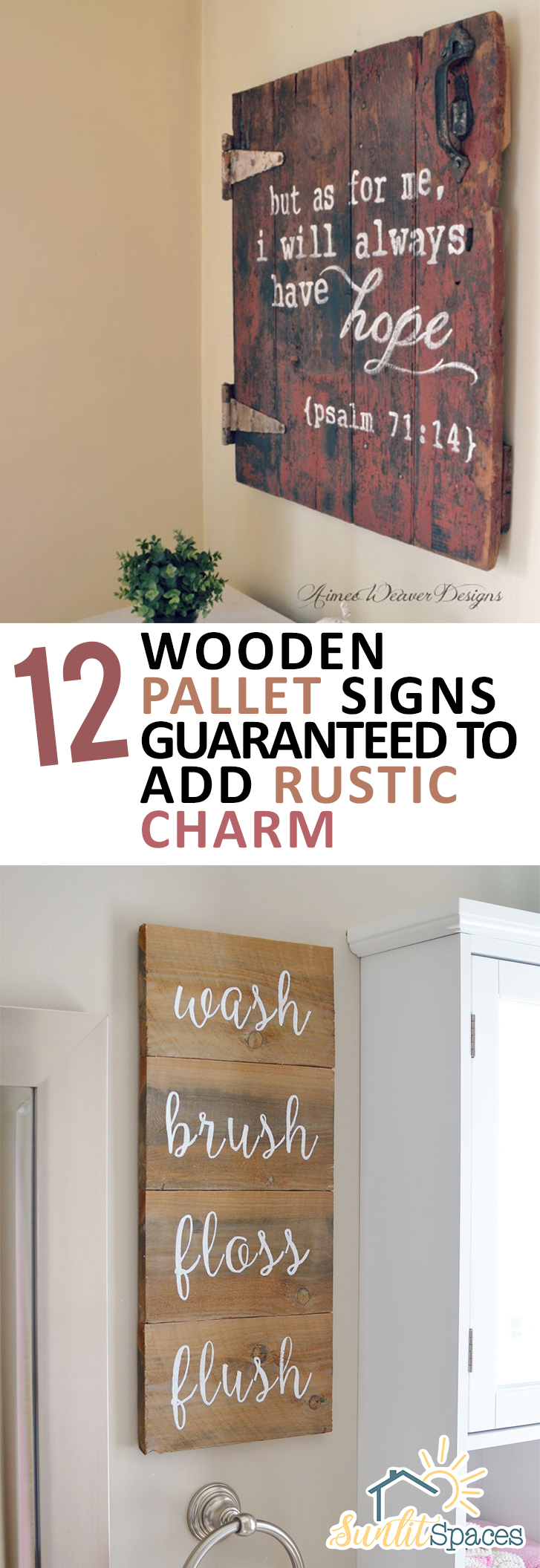 12 Wooden Pallet Signs Guaranteed To Add Rustic Charm Sunlit Spaces Diy Home Decor Holiday And More