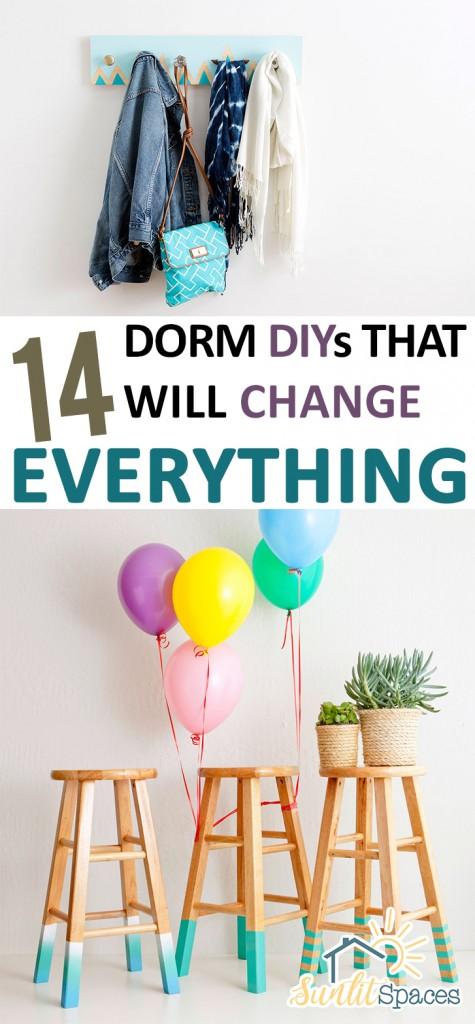 How to Decorate A Dorm, Decorating a Dorm, DIY Dorm Decor, Homemade Dorm Decor, Organizing Your Dorm, How to Personalize A Dorm Room, Easy Ways to Personalize a Dorm Room, Popular DIY Pins