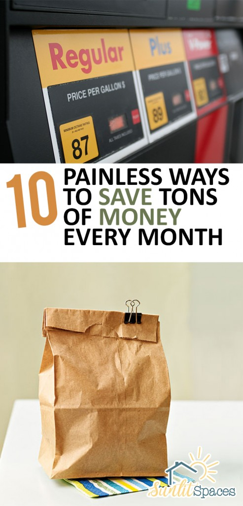 10 Painless Ways to Save Tons of Money Every Month | Money Saving TIps, Easy Way to Save Money, How to Save Money Every Month, Ways to Save Money, Money Saving Tips and Tricks, Frugal Living, How to Live Frugally, Frugal Living Tips and Tricks, Popular Pin